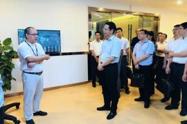 衢州市委常委、组织部长林晓峰等一行领导莅临牛盾网络参观考察
