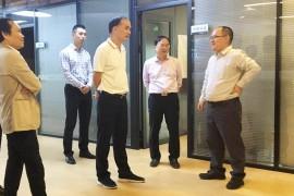 衢州市常务副市长陈锦标等一行领导莅临牛盾网络访问考察