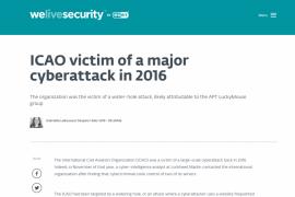 国际民航组织隐瞒重大黑客攻击